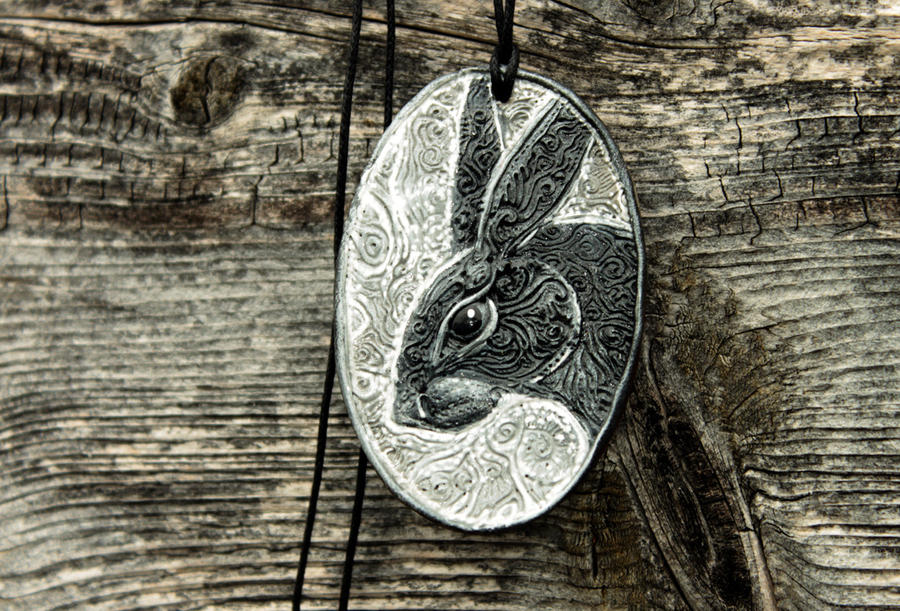 Black Hare Pendant by hontor