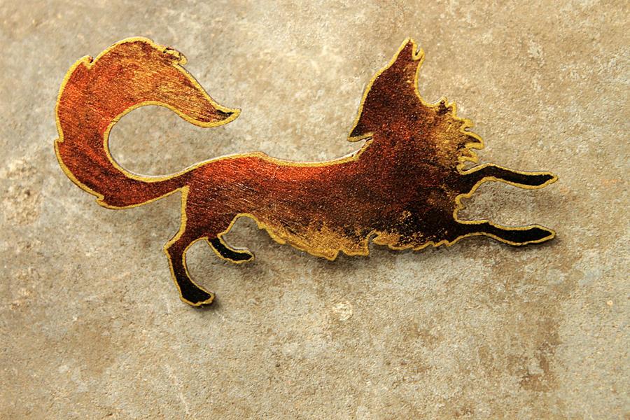Autumn Fox Brooch by hontor