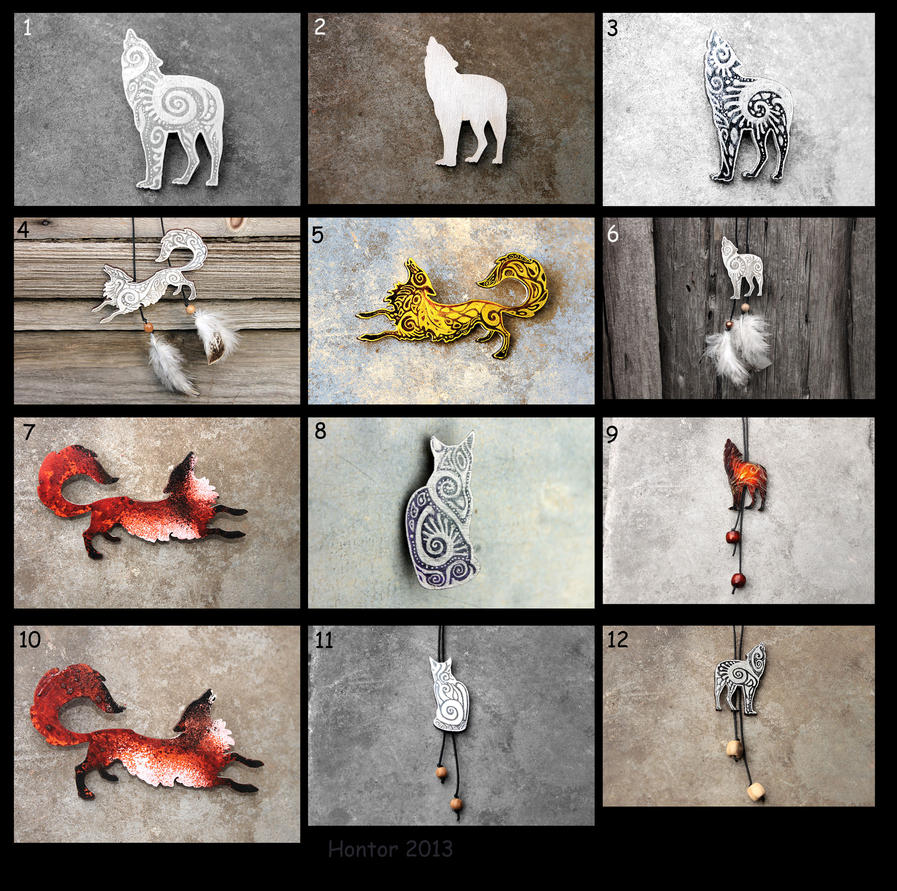 Wolves Foxes Cats accessory by hontor