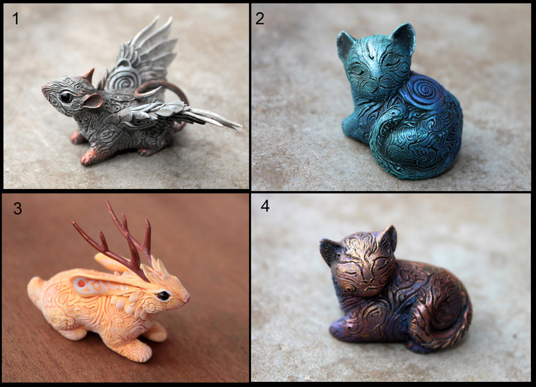 Cats, rat and jackalope by hontor