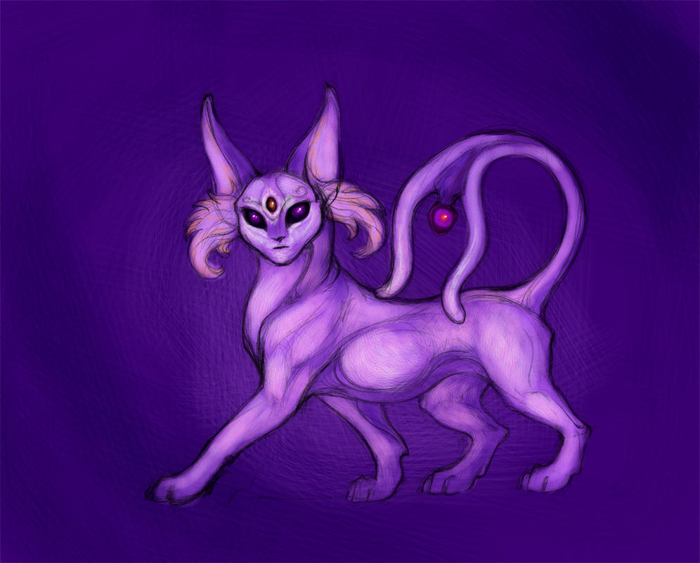 Realistic Espeon sketch - for plywood accessories by hontor