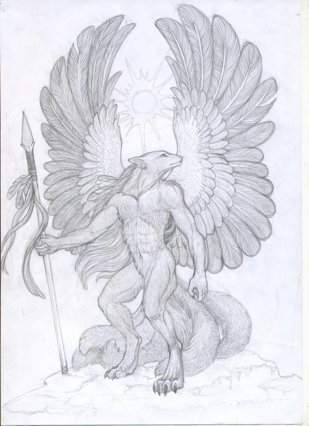 Kitsune warrior sketch