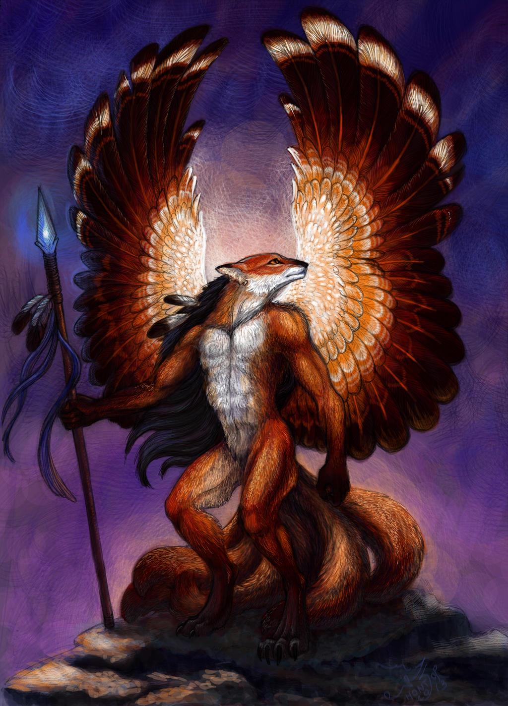 Kitsune warrior by hontor on DeviantArt