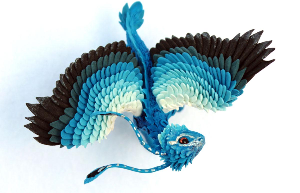 Little Blue Feather Dragon By Hontor On Deviantart