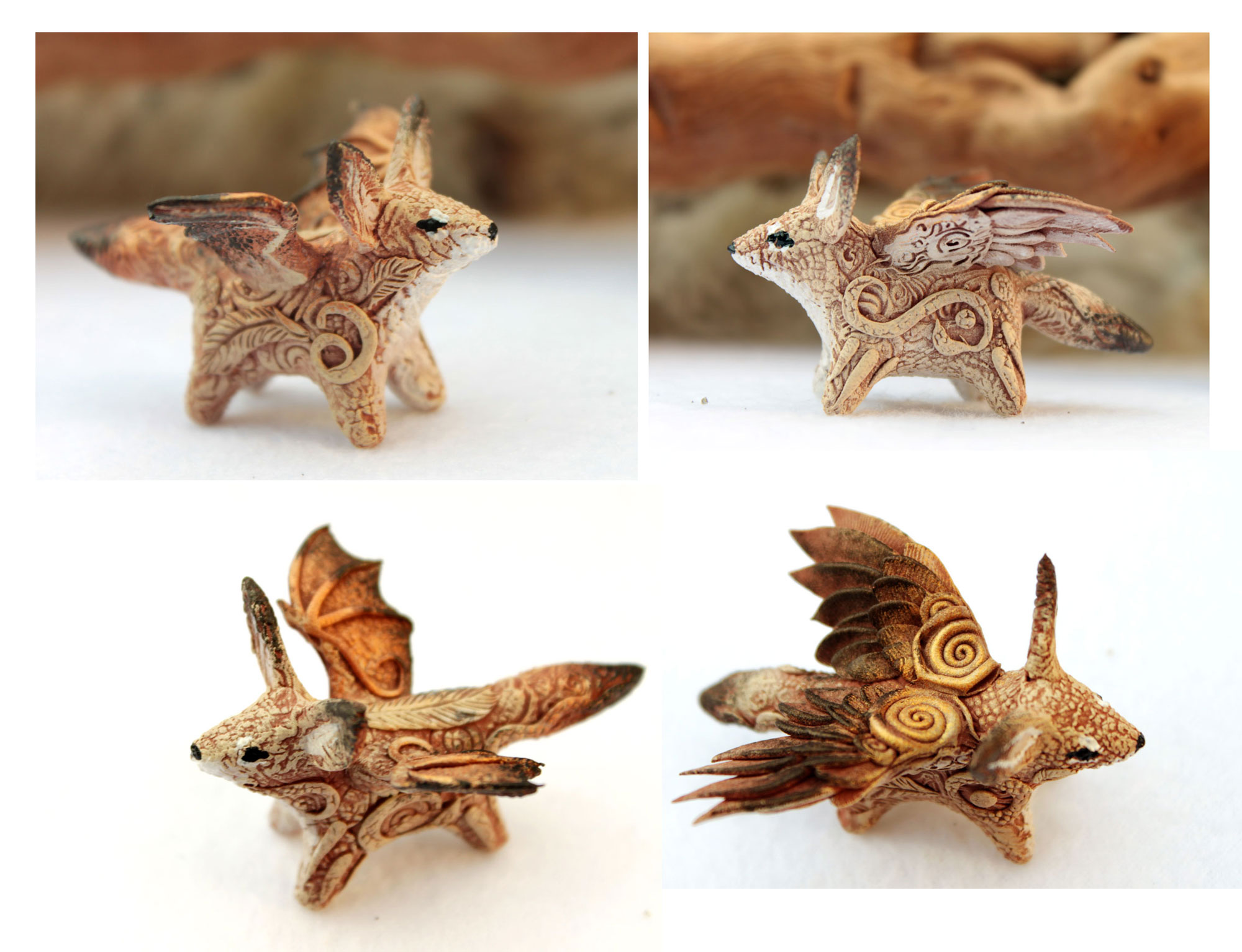 Winged foxes by hontor