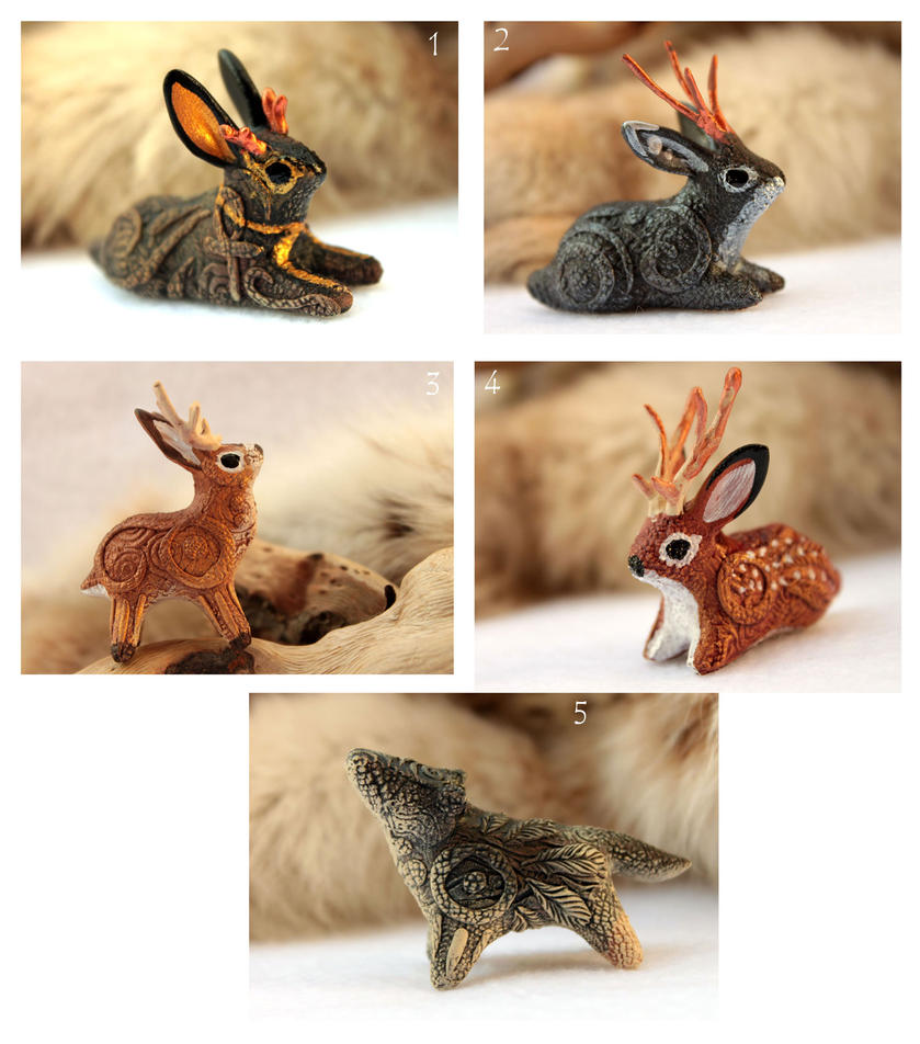 Jackalopes and wolf by hontor
