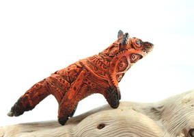 Steampuk fox totem by hontor
