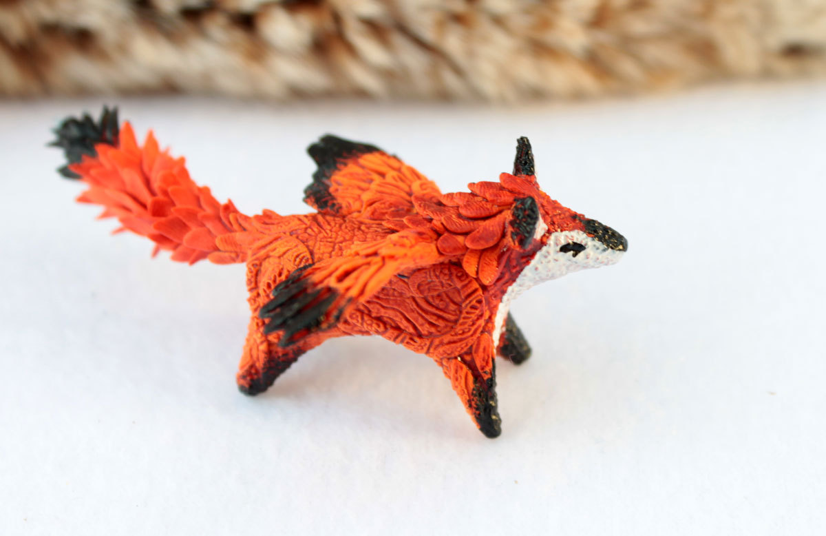 Winged fox II by hontor