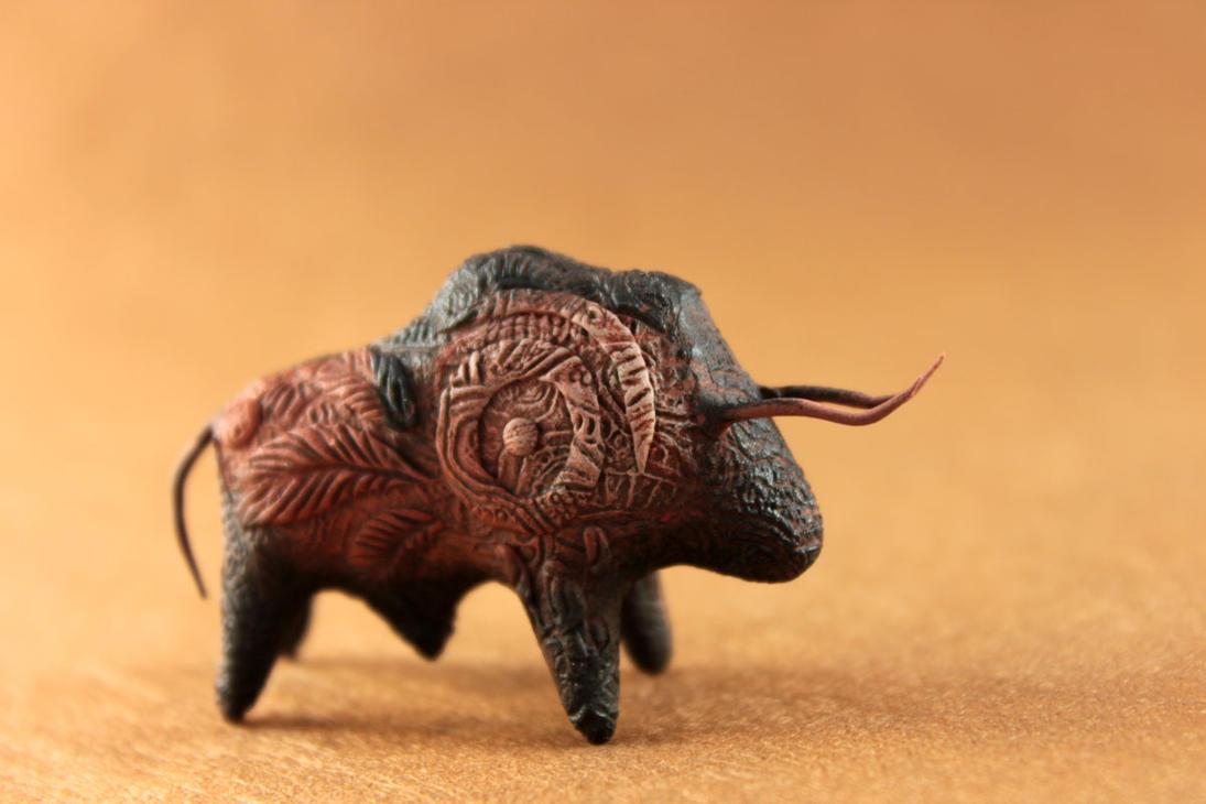 Prehistoric buffalo totem by hontor