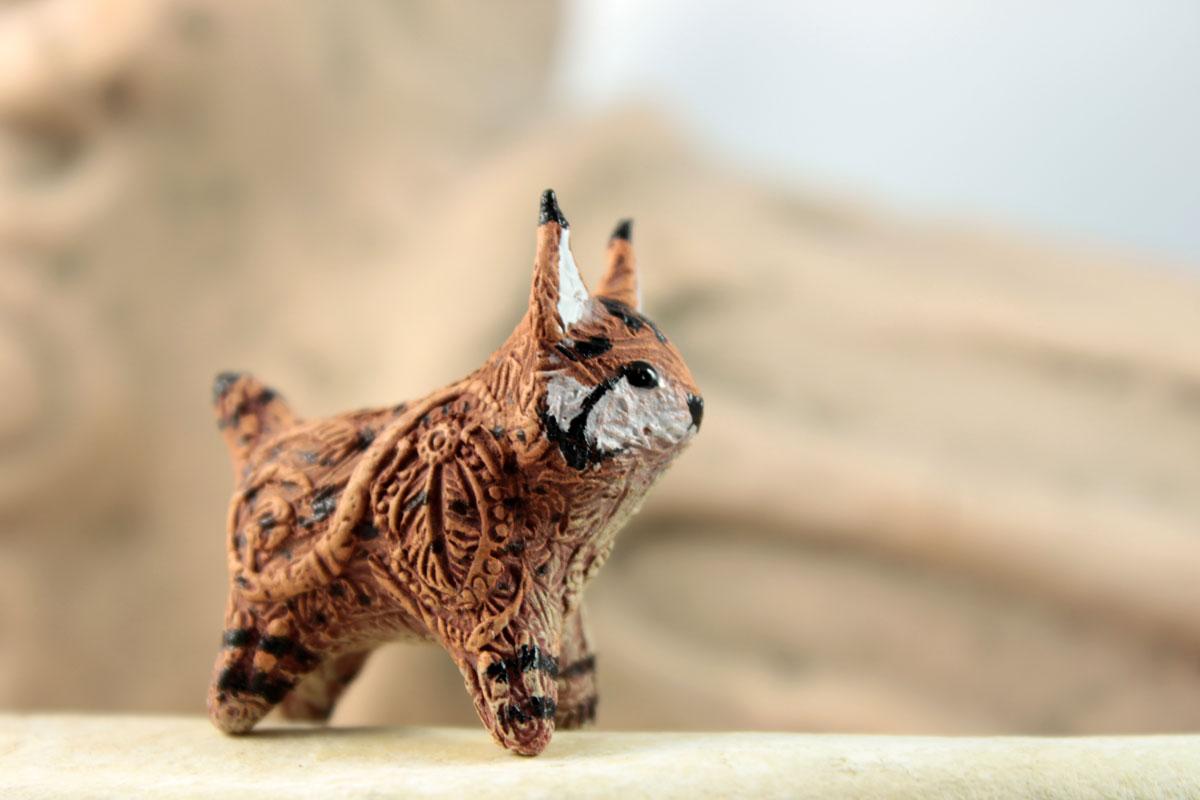 Bobcat totem figurine by hontor