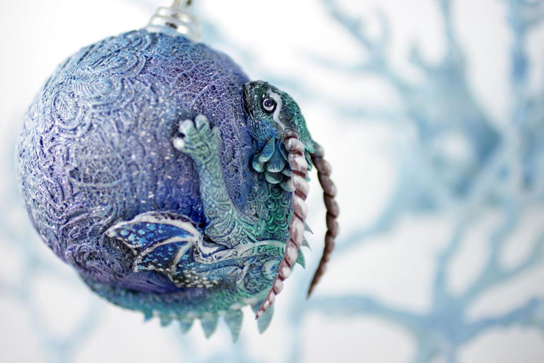 Dragon Christmas Ball by hontor