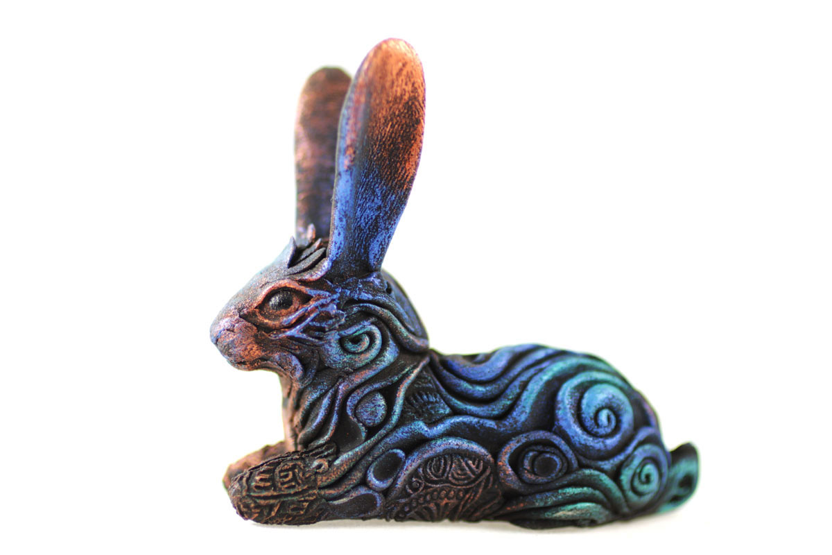 Animal Totem Sculpture Black Hare By Hontor On Deviantart