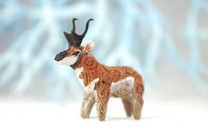 Animal totem sculpture - Pronghorn antelope by hontor