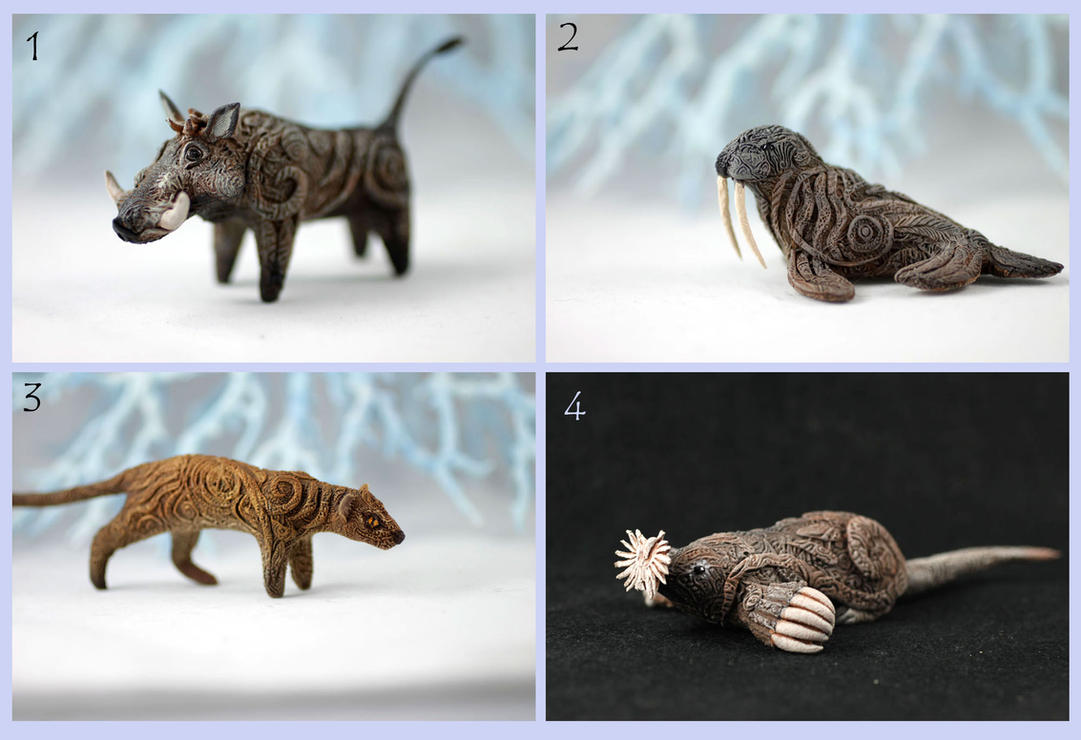 Animal totem sculptures - mix by hontor