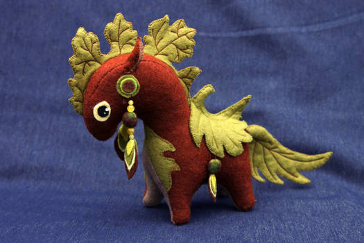 Plant horse soft toy