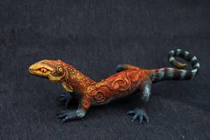 Large fire lizard