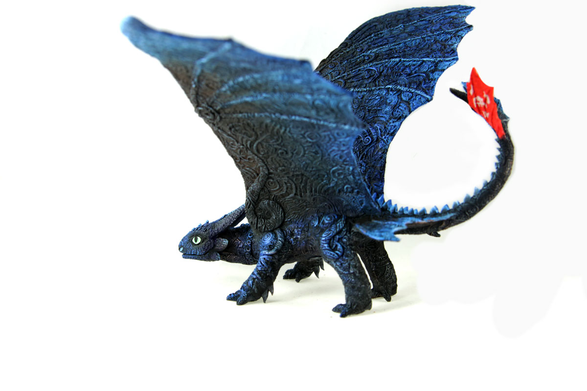 Toothless blue Alpha I by hontor