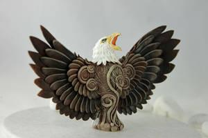 Bald Eagle totem by hontor