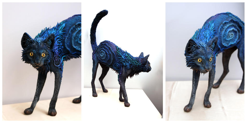 Black Galaxy Cat II by hontor