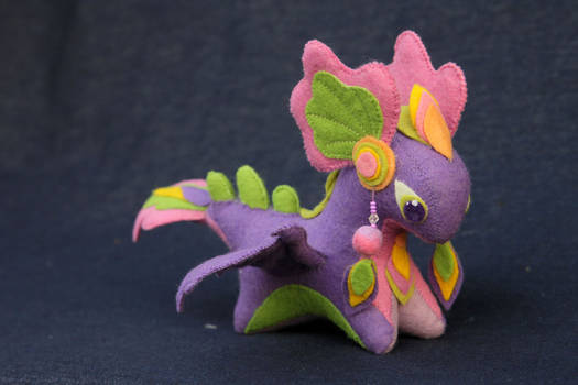 Cute purple dragon plush
