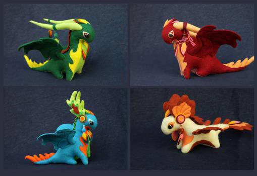 November dragons plushies