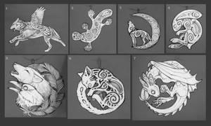 Sketches for pendants II