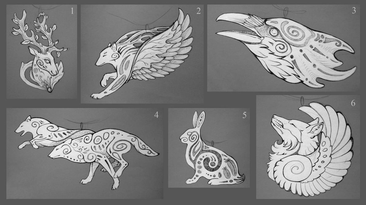 Sketches for pendants III by hontor