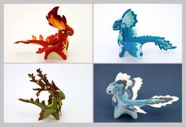 Four Elements dragons