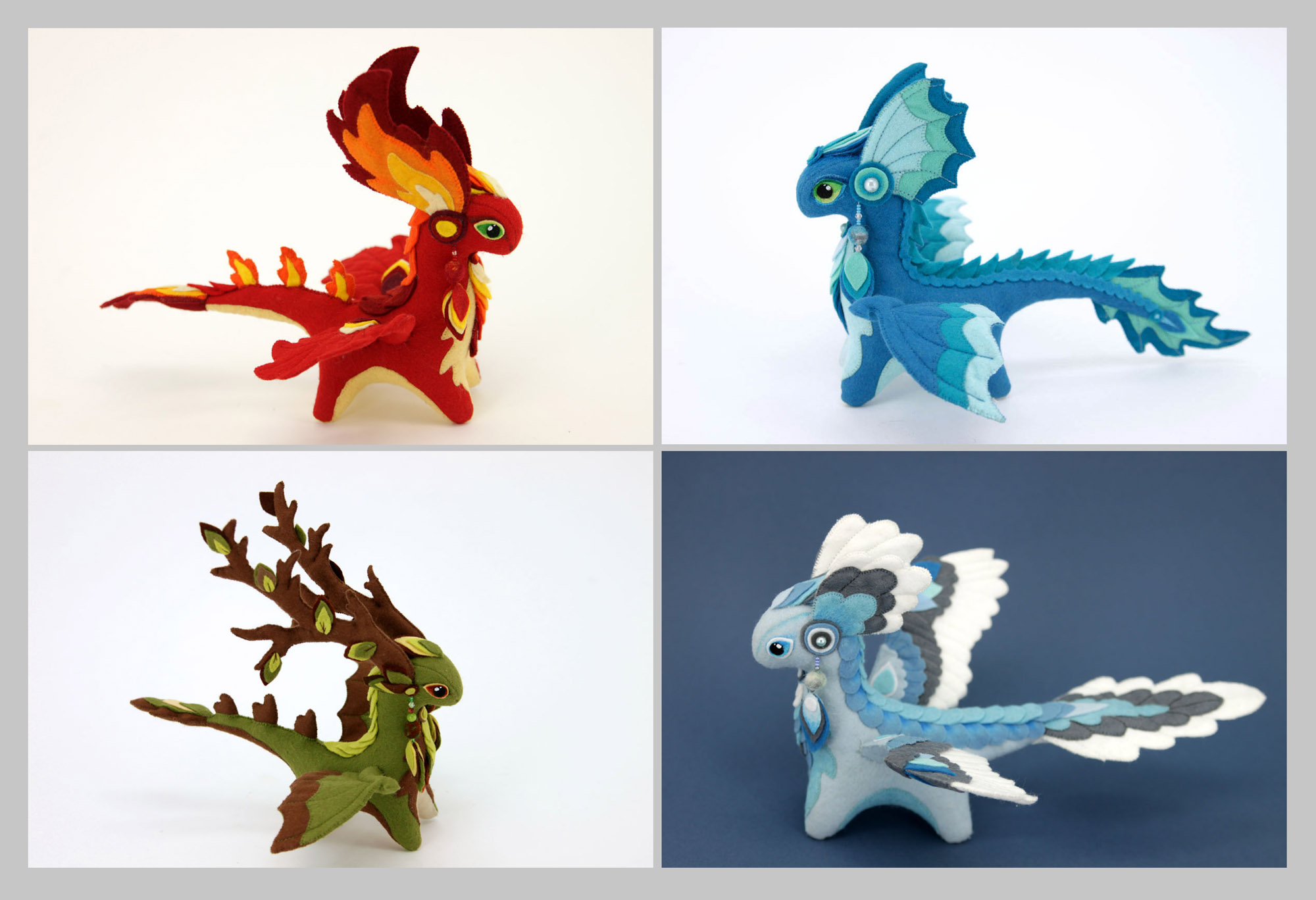 Four Elements Dragons By Hontor On Deviantart