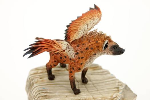 Feathered hyena