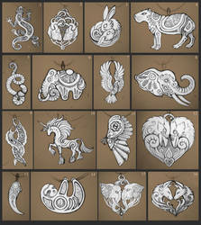 May scketches for pendants by hontor
