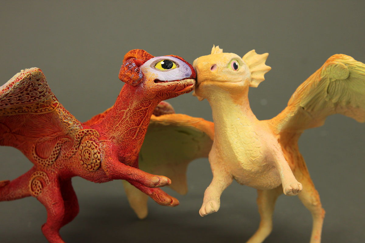 Arlekin and Peach - RGL-project dragons by hontor