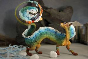 Cat-dragon Sea Foam by hontor