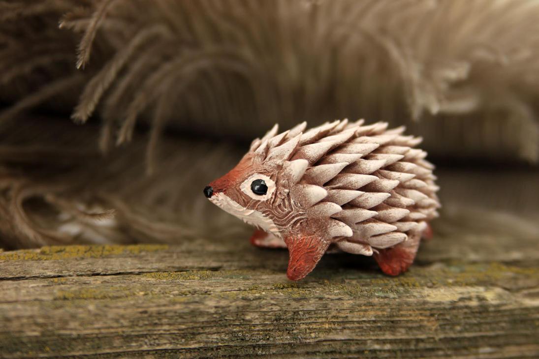 Pink hedgehog by hontor