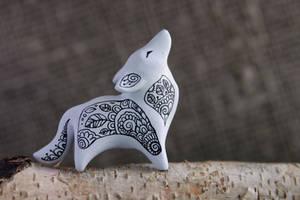 Zen Doodle Wolf