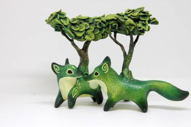 Bonsai foxes by hontor
