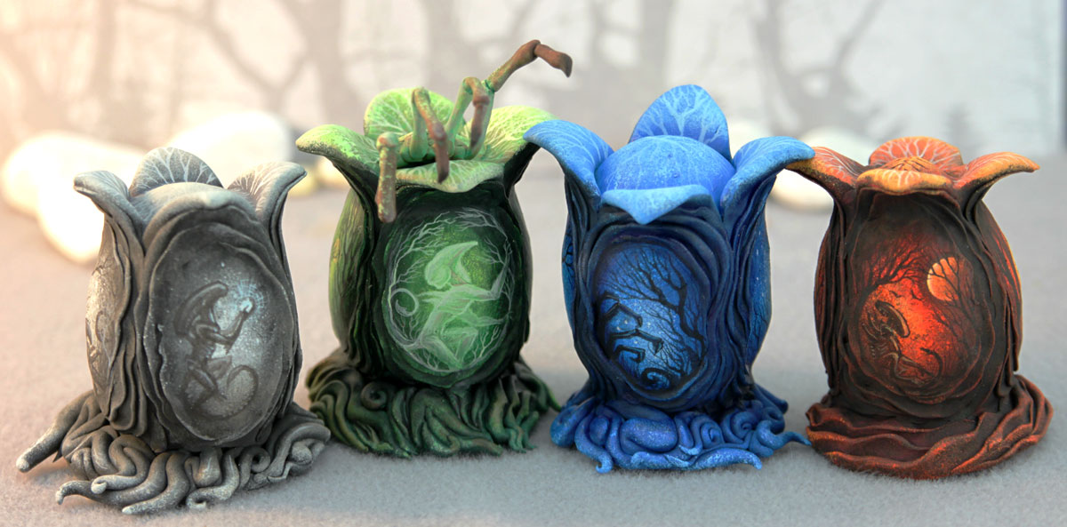 Painted xenomorph eggs (Alien Covenant inspired) by hontor