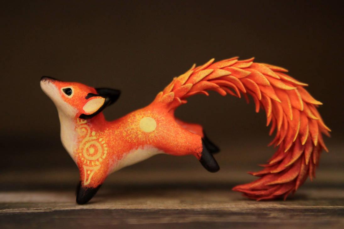 Fire kitsune by hontor