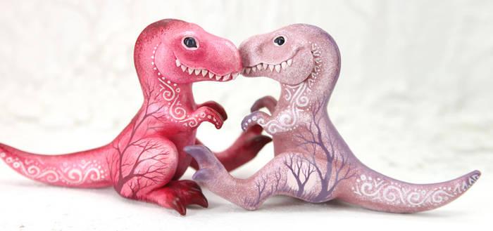 Pink dinos by hontor