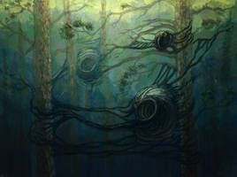 Nests of xenomorphs on Paradise planet by hontor