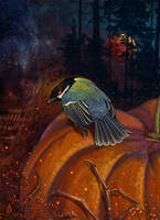 Halloween with the hell bird by hontor