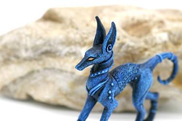 Little blue Anubis by hontor