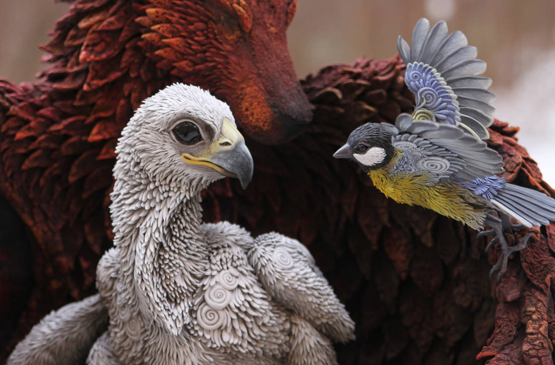 Eagle and Titmouse - Birth in the new nest by hontor
