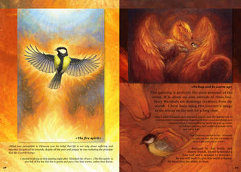 One sheet of artbook about Eagle and Titmouse