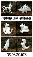Little white animals by hontor