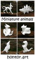 Little white animals