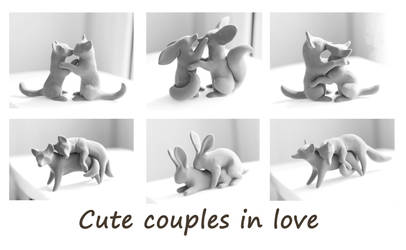 Cute animal couples by hontor