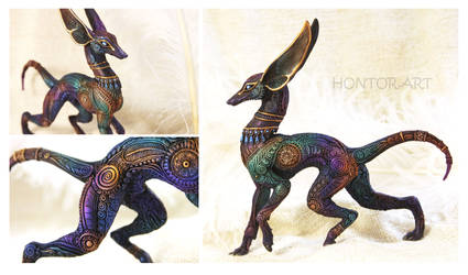 Dark Rainbow Anubis by hontor