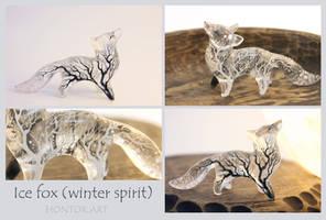 Ice fox spirit by hontor
