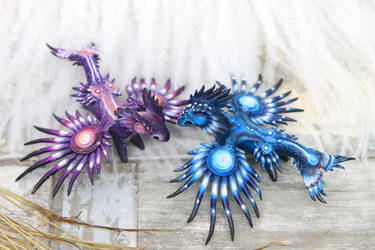 Sea dragons Glaucus atlanticus inspired by hontor